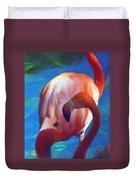 Florida's Flamingo's Duvet Cover