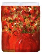 Florists Red Duvet Cover