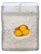 Flour And Eggs Duvet Cover