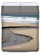 Flow - Scott Creek  Duvet Cover