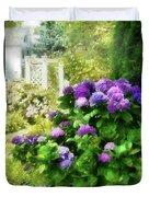 Flower - Hydrangea - Lovely Hydrangea  Duvet Cover by Mike Savad