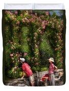 Flower - Rose - Smelling The Roses Duvet Cover