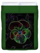 Flower 5 - Glowing Edges Duvet Cover