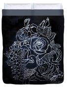 Flower And Bird Scratch Board Duvet Cover