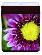 Flower And Droplets Duvet Cover