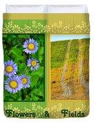 Flower And Fields Duvet Cover