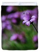 Flower And Fly Duvet Cover