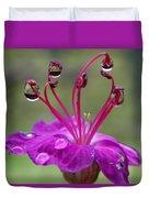 Flower And Raindrops Duvet Cover