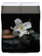 Flower And Stone Duvet Cover