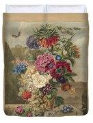 Flower Arrangement, Anthonie Van Den Bos, 1778 - 1838 B Duvet Cover