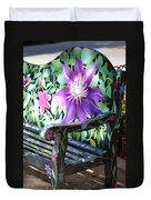Flower Bench Duvet Cover