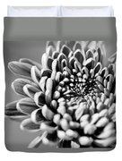Flower Black And White Duvet Cover