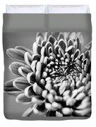 Flower Black And White Duvet Cover