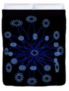 Flower Blue Duvet Cover