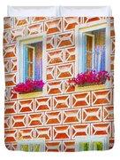 Flower Boxes In Slavonice Duvet Cover