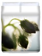 Flower Buds Abstract Duvet Cover