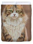 Flower Cat Duvet Cover