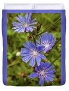 Flower Chicory Duvet Cover
