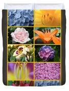 Flower Collage 1 Duvet Cover