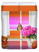 Flower Color Duvet Cover