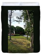 Flower Crane Duvet Cover