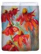 Flower Dance IIi Duvet Cover