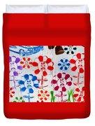 Flower Face Murial Duvet Cover