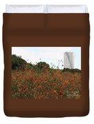 Flower Field In Hama-rikyu Gardens Duvet Cover