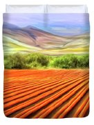 Flower Field Near Los Osos Duvet Cover