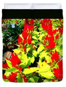 Flower Flames Duvet Cover