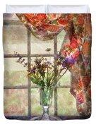Flower - Flower - A Vase Of Flowers  Duvet Cover
