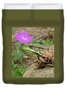 Flower, Frog, Fly Duvet Cover