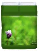 Flower Front Of Blur Background. Duvet Cover