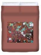 Flower Garden In The Rust Duvet Cover
