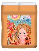 Flower Girl Duvet Cover