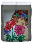 Flower Goddess  Duvet Cover