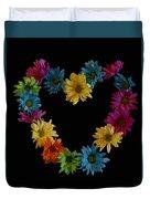 Flower Heart Duvet Cover