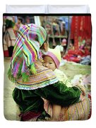 Flower Hmong Mother And Baby 02 Duvet Cover
