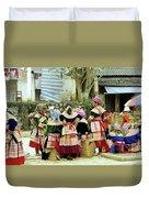 Flower Hmong Women 02 Duvet Cover