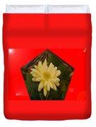 Flower In A Pentagon  Duvet Cover