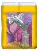 Flower In A Vase. Duvet Cover