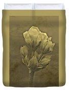 Flower In Sepia Duvet Cover