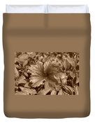 Flower In Sepia Duvet Cover
