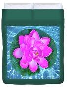 Flower In The Pool Duvet Cover