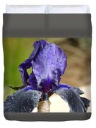 Flower In The Rain At Chelsea Duvet Cover