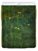 Flower In The Stream - Digital Art Duvet Cover