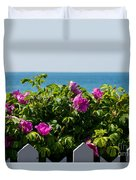 Flower Island View Duvet Cover