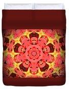 Flower Kaleidoscope Duvet Cover