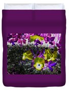 Flower Like Purple And Yellow Duvet Cover