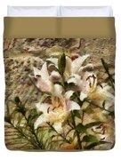 Flower - Lily - White Lily Duvet Cover